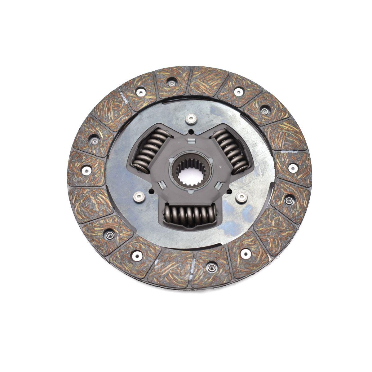 Clutch plate for Iseki TU Iseki: TU1400 TU1500 TU1600 : Diameter disc: 185mm Diameter asgat: 22mm Splines: 20 stuks 1491-120 -220-00 / 1491-120-2200-0 / 149112022000