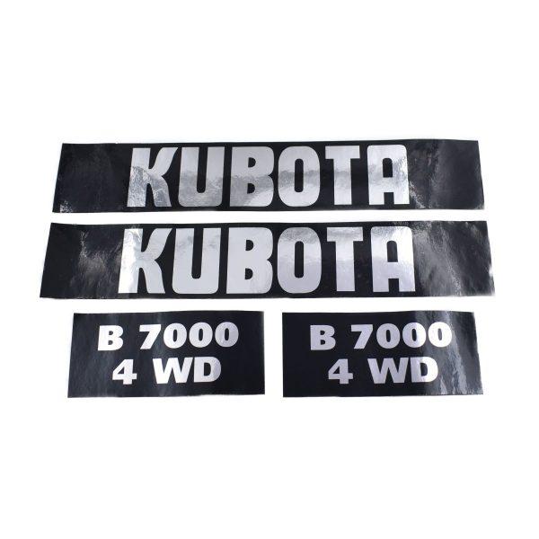 Sticker set Kubota B7000