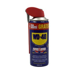WD-40 AEROSOL 330ML Extra info: Content: 330ml Protects against rust and corrosion Is a penetrating oil with penetrating effect Loosens stuck nuts Displaces moisture and restores electrical contact Lubricates almost everything 2-way spray system Removes grease and dirt