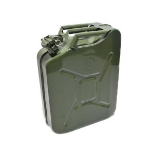 METAL JERRYCAN 20 LITERS Ideal to use for: Refueling of your vehicle also to make as frontweight for your mini-tractor Dimensions: Height: 46 cm Width: 36 cm Thickness: 17 cm