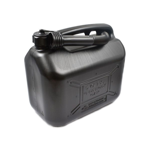 PLASTIC JERRYCAN 10 LITERS To use for: Refueling of your vehicle Dimensions: Height: 30 cm Width: 32 cm Thickness: 18 cm