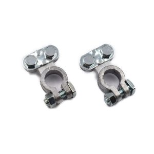 BATTERY CLAMPS UNIVERSAL FOR NORMAL POLES Extra info: Set of 2 pieces DIN poles (16 and 18 mm)
