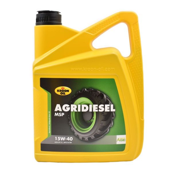 ENGINE OIL 'MINI' TRACTORS (5 LITERS) Additional info: Agridiesel MSP 15W-40 is a very high quality mineral engine oil specially developed for diesel engines of tractors Special Mid-SAPS additive technology in combination with top quality base oils Low sulfated ash, phosphorus and sulfur content Very strong cleaning power, which reduces deposits, sludge and particle formation to a minimum Excellent protection against wear Very good anti-oxidation and anti-corrosion properties Capacity: 5 liters Application: Agridiesel MSP 15W-40 is a high-quality Mid-SAPS engine oil suitable for use in diesel engines of ' mini 'tractors and earthmoving equipment Product specifications: ACEA E9 API CK-4 / SN Mack EOS-4.5 Renault VI RLD-3 Volvo VDS-4.5 Cat ECF-3 Cummins CES 20086 Detroit Diesel 93K222 Deutz DQC III-18 LA Ford WSS M2C171-F1 MAN M 3775 MB 228.31 MTU Type 2.1