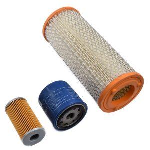 FILTER SET ISEKI TG (GEAS) Iseki TG: TG21 TG23 Tg25 TG27 TG29 TG31 TG253 TG333 Set contents: 1x Fuel filter (including O-ring) 1x Oil filter 1x Air filter
