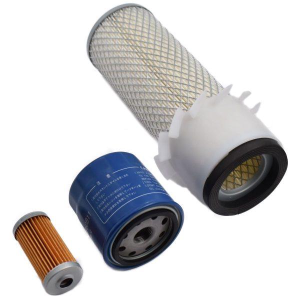 FILTER SET ISEKI TL SERIES Iseki TL: TL1900 TL1901 TL2100 TL2101 TL2300 TL2301 TL2500 TL2700 Set content: 1x Fuel filter 1x Oil filter 1x Air filter