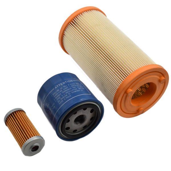FILTER SET ISEKI TM, TXG Iseki TM: TM15 TM17 TM215 TM217 TM223 TM3160 TM3200 TM3240 Iseki TXG: TXG23 Set contents: 1x Fuel filter 1x Oil filter 1x Air filter