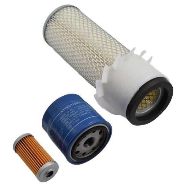 FILTER SET ISEKI TS Iseki TS: TS1610 TS1700 TS1910 TS2000 TS2200 TS2202 TS2205 TS2210 TS2220 TS2400 TS2510 Set content: 1x Fuel filter 1x Oil filter 1x Air filter