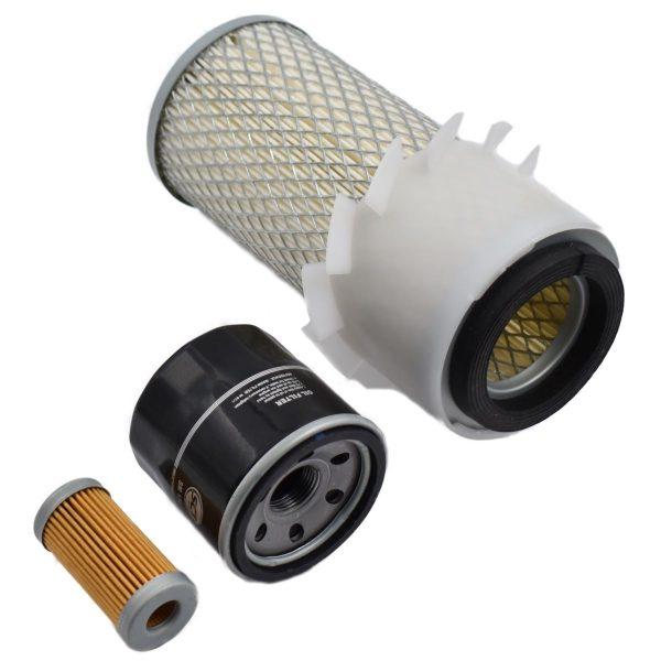 FILTER SET ISEKI TU1400, TU1500, TU1600 Iseki TU: TU1400 TU1500 TU1600 Set contents: 1x Fuel filter 1x Oil filter 1x Air filter