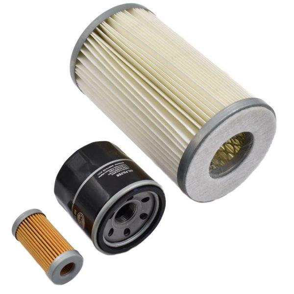 FILTER SET ISEKI TX1000, TX1210, TX1300, TX1500 Iseki TX: TX1000 TX1210 TX1300 TX1500 Set contents: 1x Fuel filter 1x Oil filter 1x Air filter