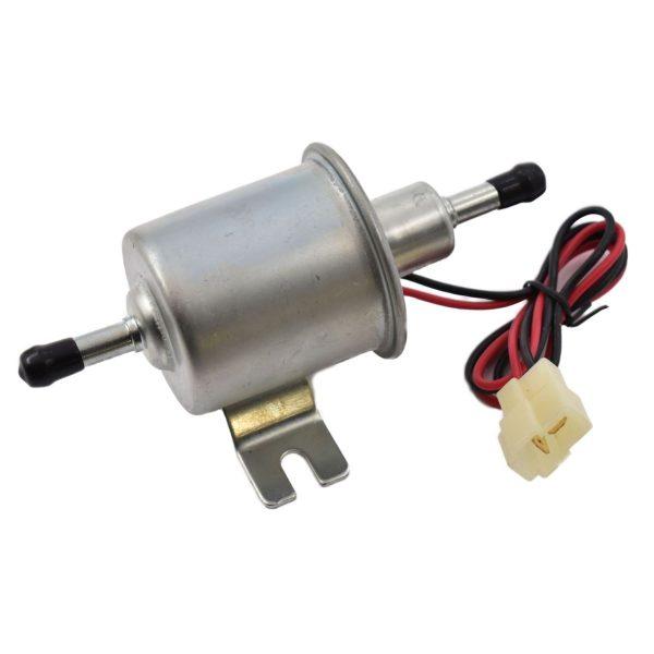 ELECTRIC FUEL LIFT PUMP Extra information: 12 volt low pressure T-plug Dimentions: Total length: 145mm Diameter: 60mm Diameter connection: 8mm