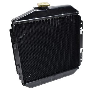 RADIATOR HINOMOTO C172, C174 Hinomoto: C172 C174 Dimensions: Width: 390mm Height: 430mm (without filler cap) Thickness: 62mm Connection at the top: 28mm Aansluiting at the bottom: 28mm Including overpressure hose