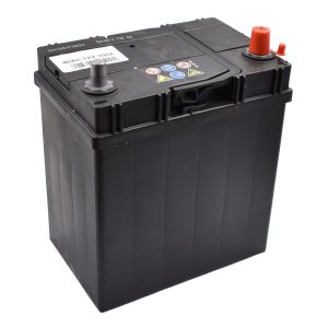 BATTERY 40AH (SMALL POLES) Extra information: Suitable for mini-tractores 40AH battery maintence free Poltype 3 Dimensions: Length: 185mm Width: 125mm Height: 200mm Iseki Kubota Yanmar Shibaura Hinomoto mini tractor mitsubishi