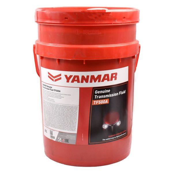Yanmar Transmission oil TF500A (20 liters) Extra information: Original Yanmar oil limited wear to gearbox parts Hydrauliek oil Hydrostat oil