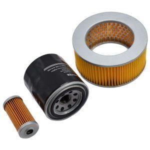 Filterset Yanmar YM1100, YM1110, YM1300 Yanmar YM: YM1100 YM1110 YM1300 Content set: 1x Fuelfilter 1x Oilfilter 1x Airfilter