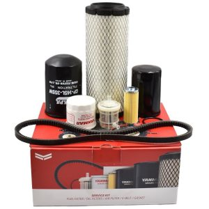 Service kit Yanmar SA221 Kit contents: Air filter Fuel filters (2 pieces) O-ring fuel filter Engine oil filter Hydraulic filter Hydrostatic filter V-belt
